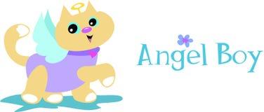 кот мальчика ангела Стоковая Фотография