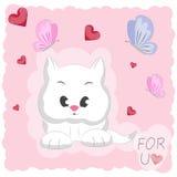 Кот милого шаржа счастливый Стоковые Фотографии RF