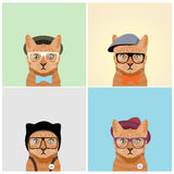 Кот моды иллюстрация штока