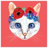 Кот низко поли Стоковая Фотография RF