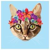 Кот низко поли Стоковые Изображения