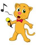 Кот петь Стоковое Изображение
