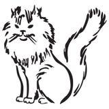 кот пушистый Иллюстрация штока