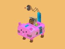 Кот робота, иллюстрация вектора Стоковая Фотография