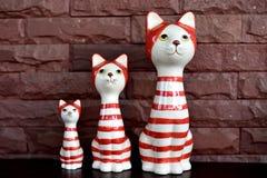 Кот семьи Стоковое Фото