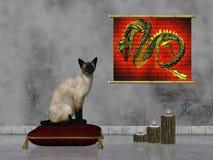 кот сиамский Иллюстрация вектора