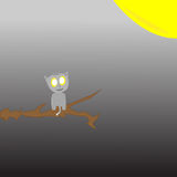 Кот сидя на ветви дерева Стоковые Фото