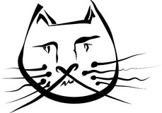 кот смешной Стоковая Фотография RF