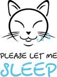 Кот спать Чертеж шаржа для дизайна стоковые изображения rf