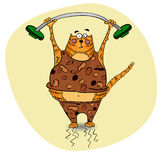 Кот спортсмена шаржа Стоковые Фотографии RF
