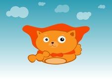 Кот супергероя Стоковое фото RF