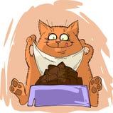 кот счастливый иллюстрация штока
