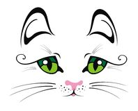 Кот с зелеными глазами Стоковое Фото