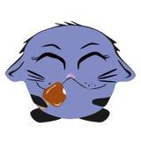 Кот с мороженым Стоковое Изображение RF