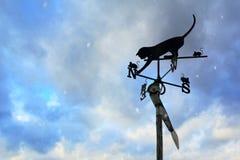 Кот с лопастью погоды Mouses Стоковые Изображения RF