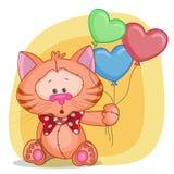 Кот с baloons бесплатная иллюстрация