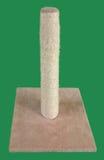 Кот царапая вырез столба Стоковая Фотография