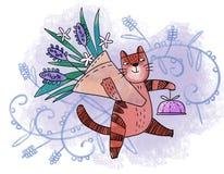 Кот цветка весны Стоковые Изображения