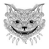 Кот Чешира вектора декоративный иллюстрация штока