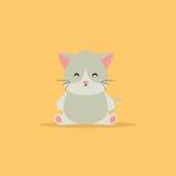 кот шаржа милый Стоковые Фото