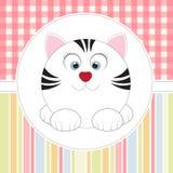 кот шаржа милый Стоковая Фотография RF