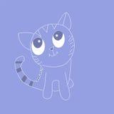 кот шаржа смешной Стоковое Изображение