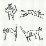 Кот эскиза Стоковые Изображения RF