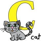 кот c алфавита животный Стоковое Изображение