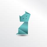 Кот Origami Стоковое Изображение