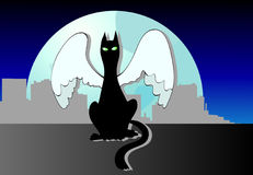 кот s ангела Стоковая Фотография RF