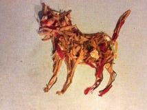 Кот, Vegetable искусство с остатками кухни Стоковые Фото