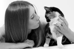 Кот whit ребенка Стоковые Изображения RF