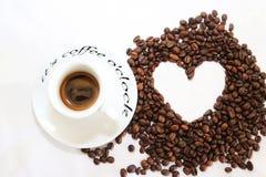Кофеин горячий, оно ароматности espressoo чашки питья кофе часы ` кофе o ` s, я люблю Coffe, доброе утро, кофе питья людей Стоковое Изображение RF