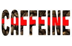 Кофеин слова стоковое изображение rf