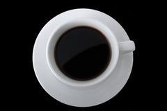 Кофейная чашка взгляд сверху без предпосылки Стоковые Фотографии RF