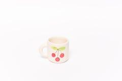 Кофейная чашка вишни Стоковые Фотографии RF