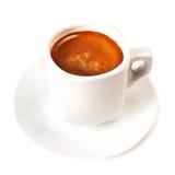 Кофейная чашка изолированная на белом конце предпосылки вверх Americano Cof Стоковое Изображение RF