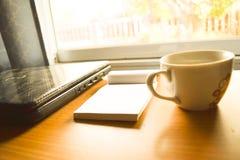 Кофейная чашка и инструменты Стоковые Фотографии RF