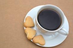 Кофейная чашка и печенья Стоковое фото RF