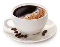 Кофейная чашка и фасоли Стоковое Фото