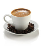 Кофейная чашка и фасоли Стоковые Фото