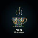 Кофейная чашка - иллюстрация пиксела Стоковое Изображение RF