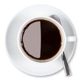 кофейная чашка клиппирования изолировала путь Стоковое фото RF