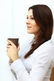 кофейная чашка коммерсантки имея Стоковые Изображения