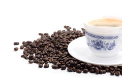 кофейная чашка над белизной Стоковая Фотография RF