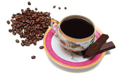 Кофейная чашка на белой предпосылке Стоковые Фотографии RF