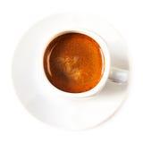 Кофейная чашка на белом взгляд сверху предпосылки Americano Cof Стоковое фото RF