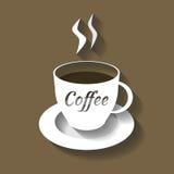 Кофейная чашка отрезанная от бумаги Стоковые Изображения