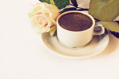 кофейная чашка подняла Стоковые Изображения RF