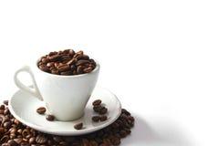 кофейная чашка полная стоковое изображение rf